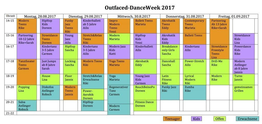 Outfaced DanceWeek