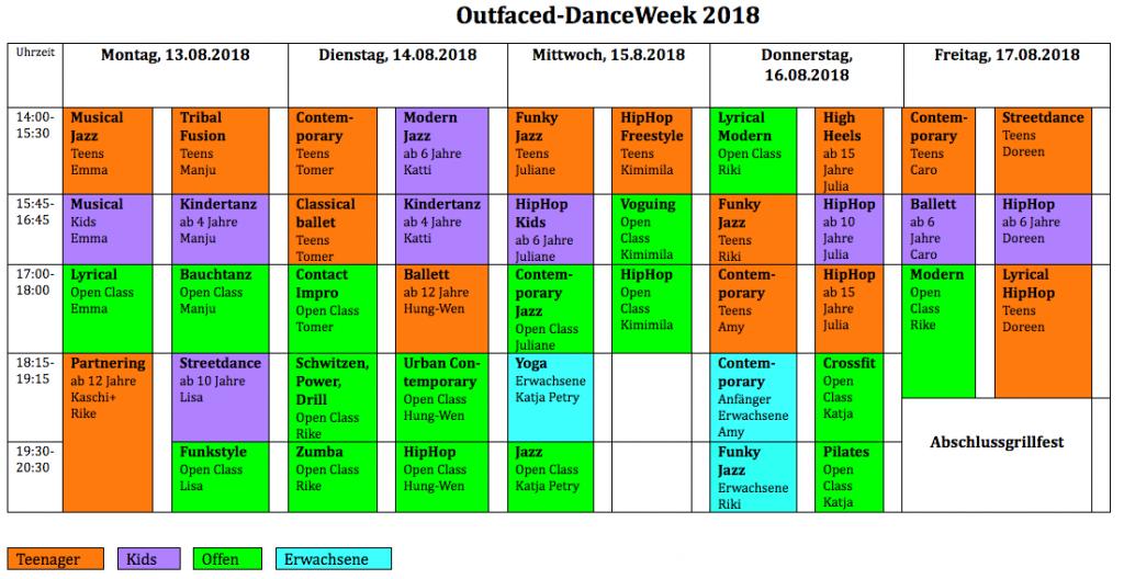 Outfaced Danceweek 2018